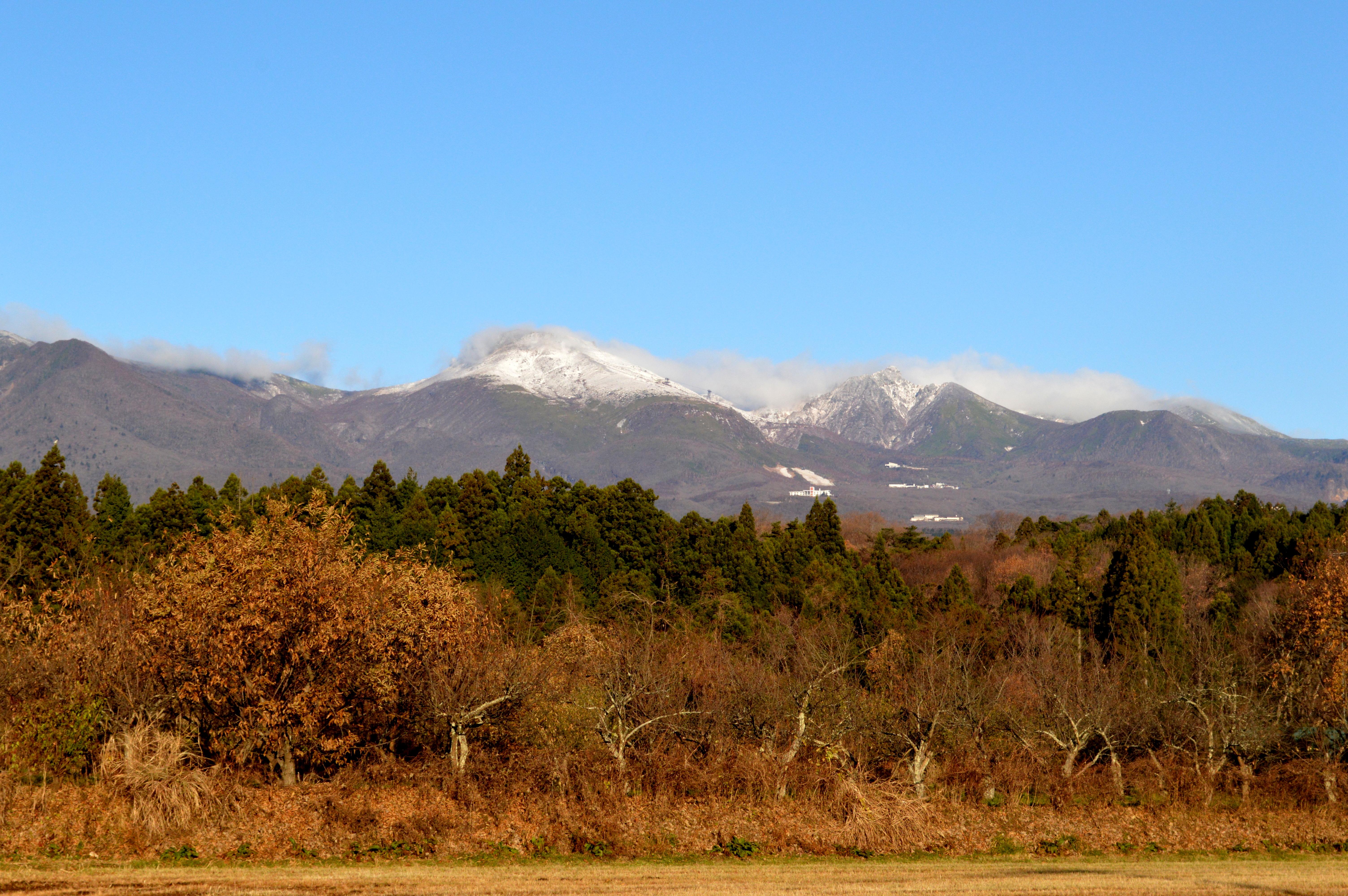 那須連山の冠雪