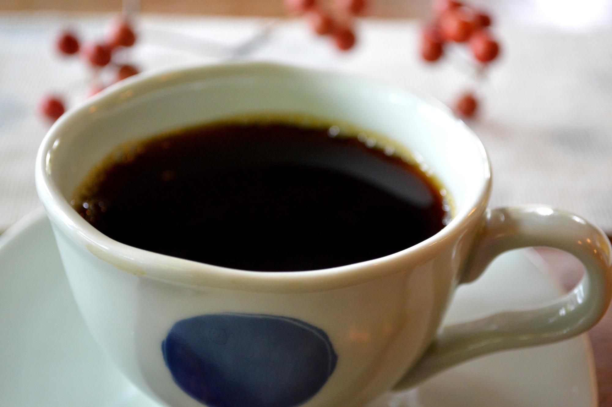 那須のカフェ楓のランチコーヒー