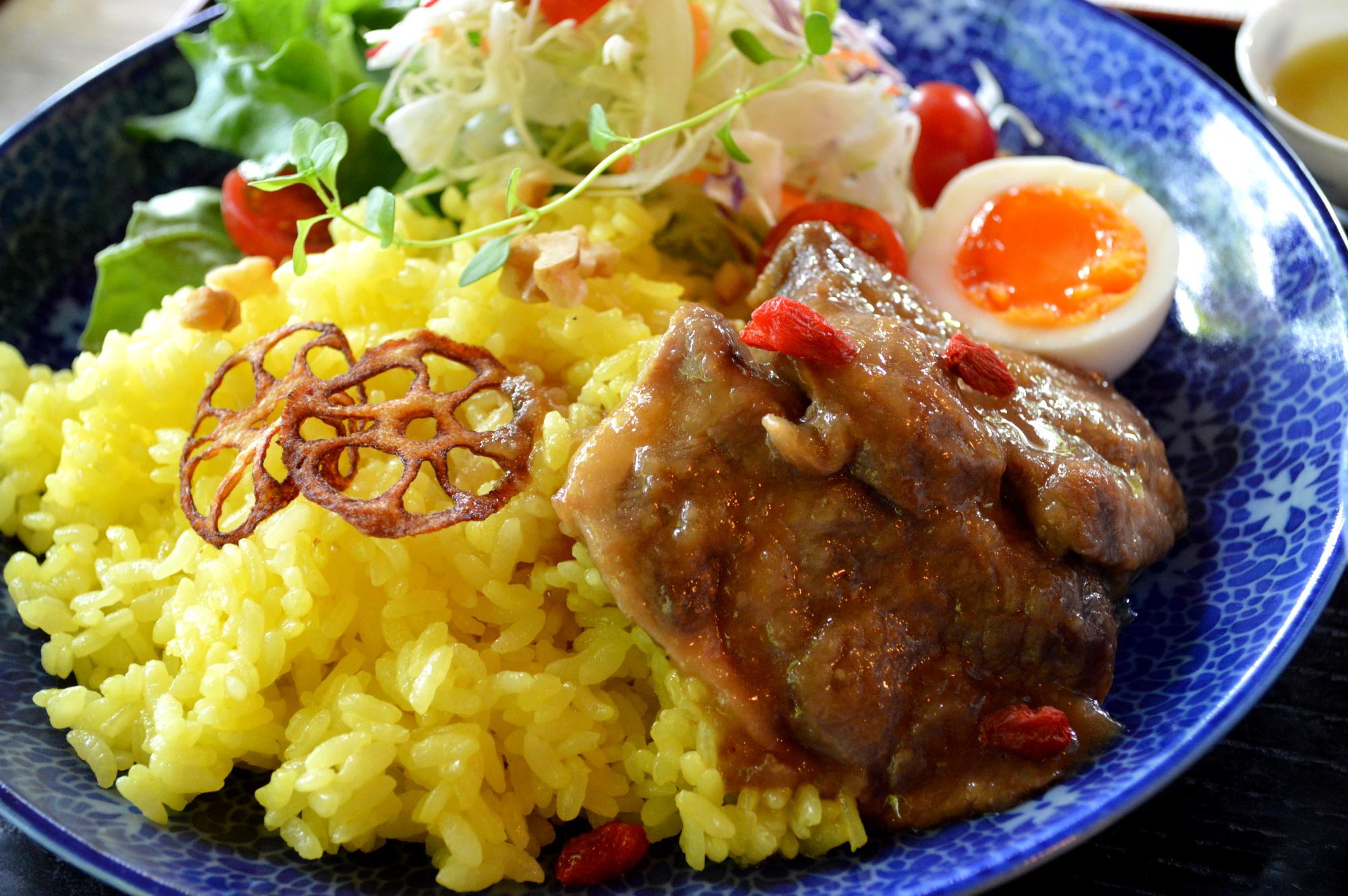 那須のカフェ楓の豚肉ランチ