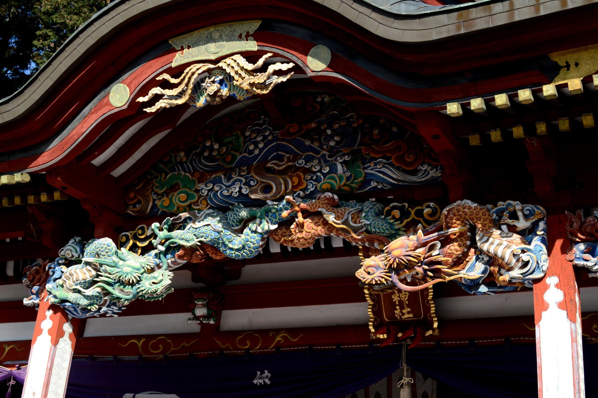 彫刻が美しい真岡の大前神社本殿