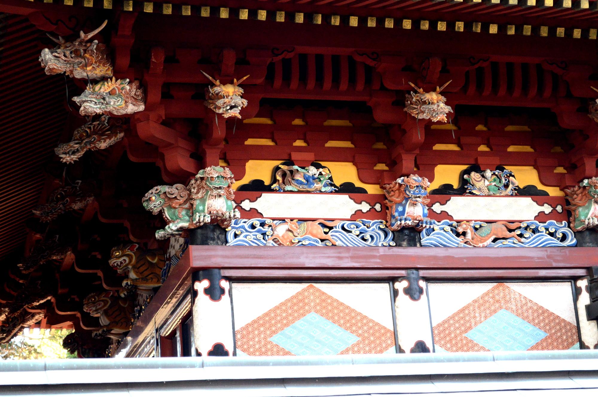 真岡の大前神社の24の龍頭
