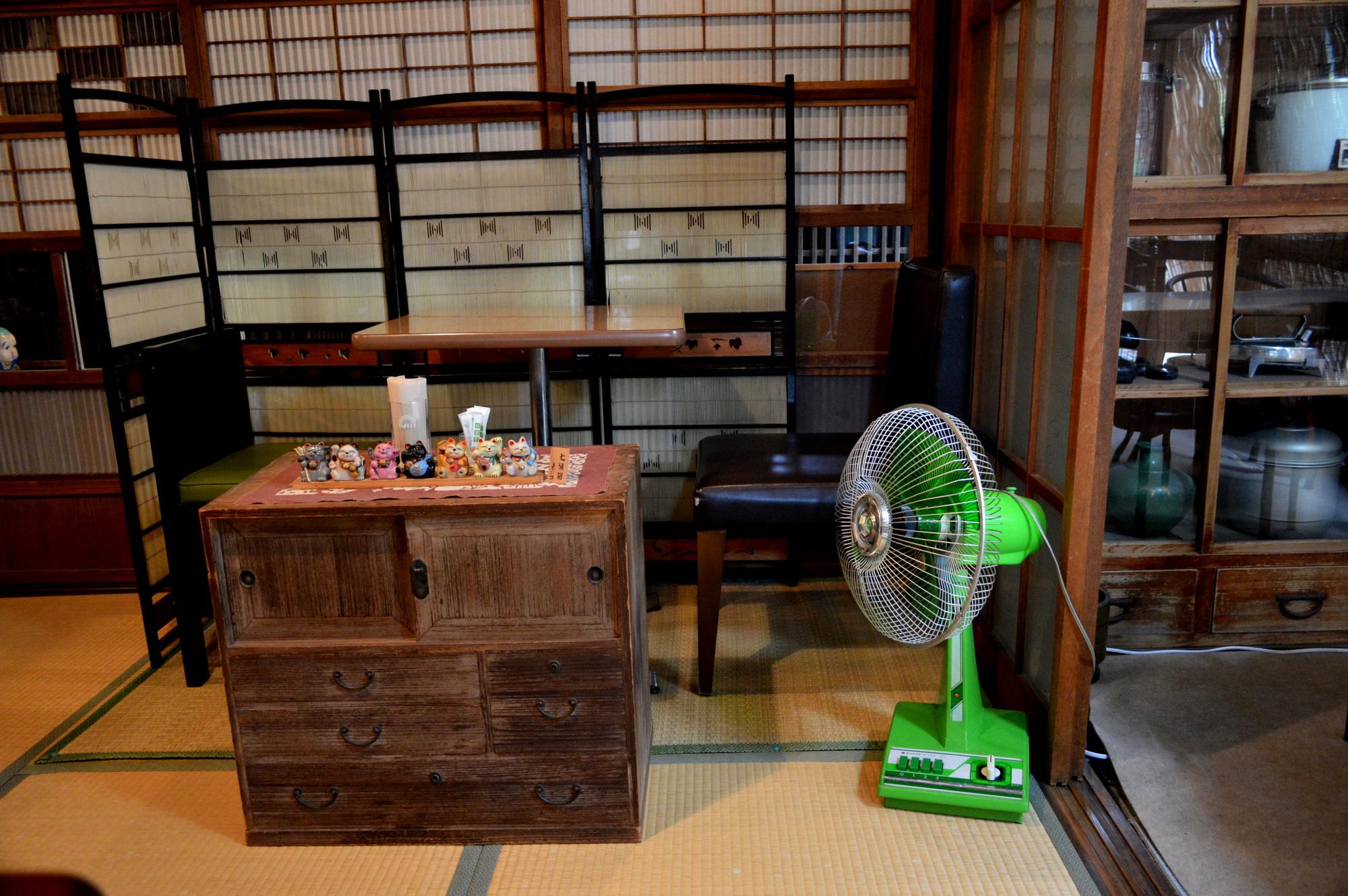 仁亭の道具は昭和の時代のモノばかり
