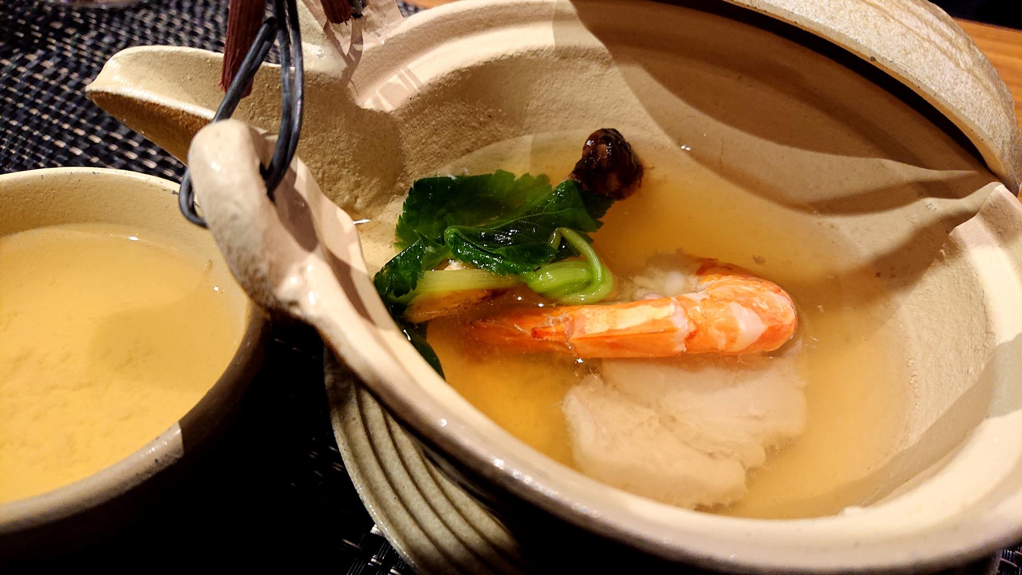 ホテルエピナール那須の菜す乃の松茸土瓶蒸し