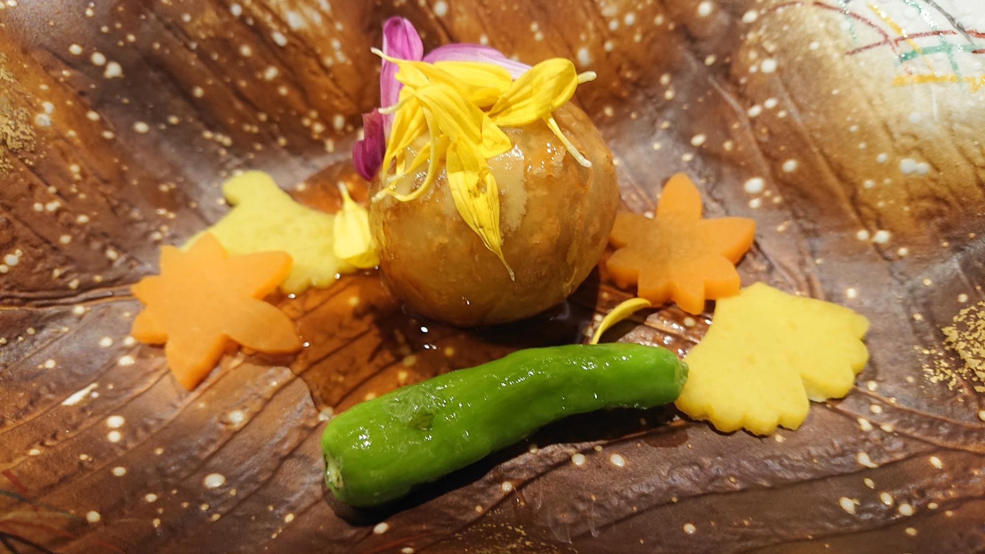 ホテルエピナール那須の菜す乃の里芋菊花