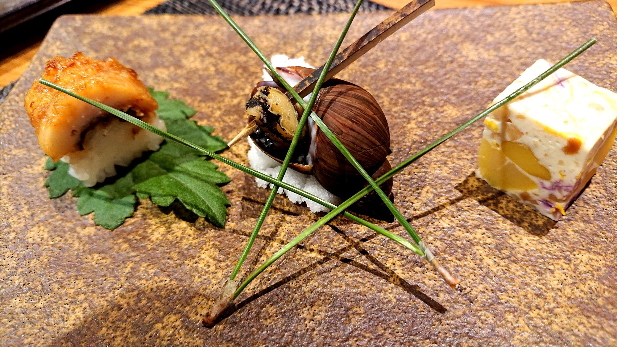 ホテルエピナール那須の菜す乃の旬の3種盛り