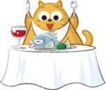 可愛いグルメな猫