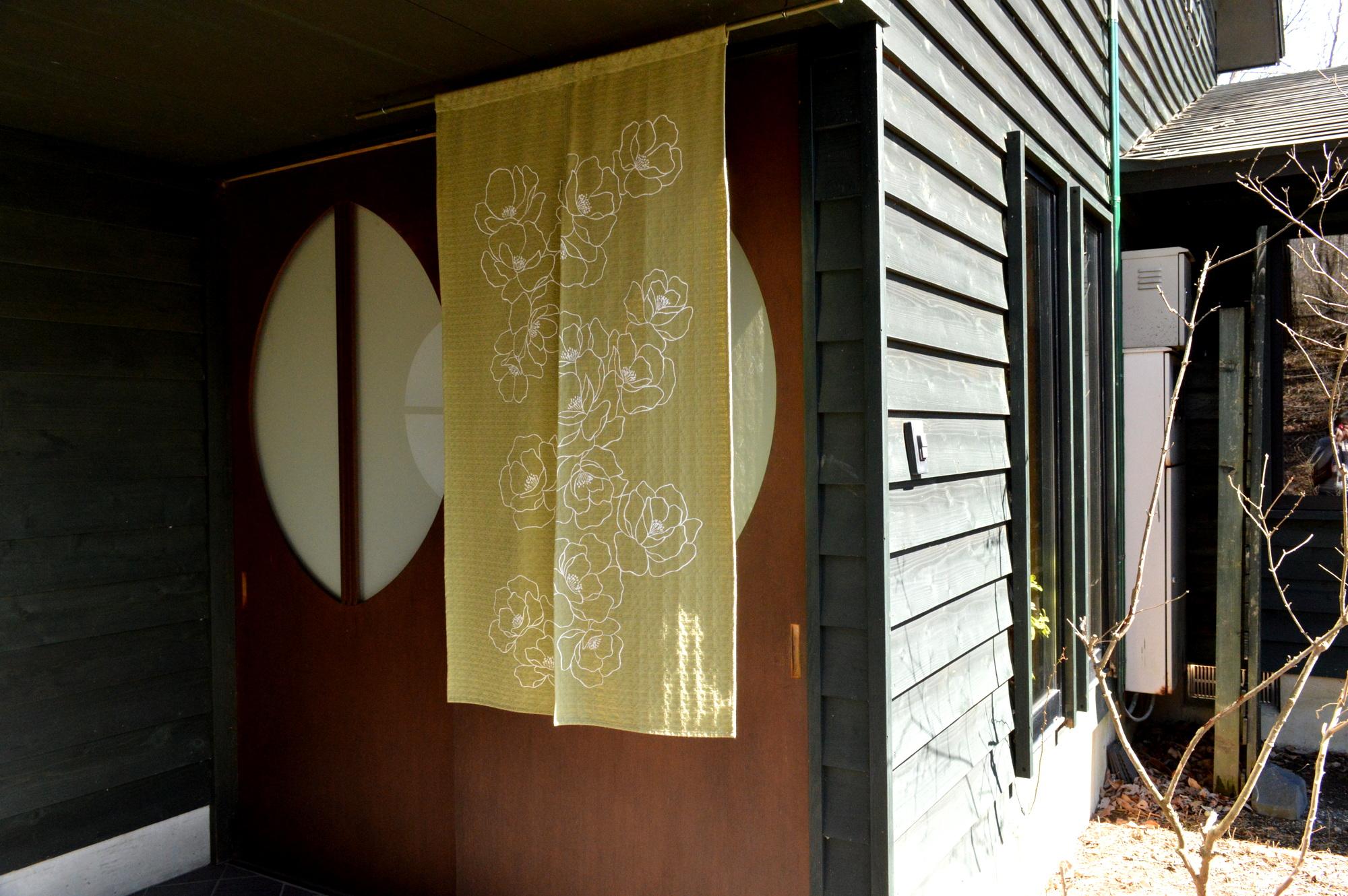 那須高原の草花宿の玄関