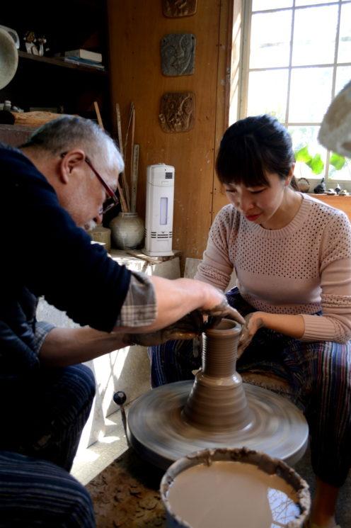那須高原のぎゃらりー瀧の陶芸教室