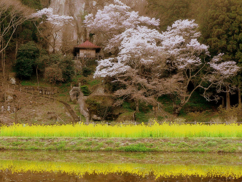 那須町・堂の下の岩観音日没前