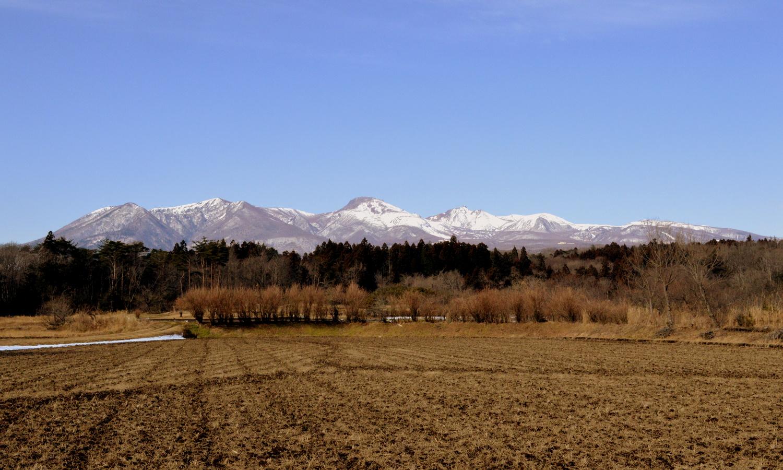 那須高原は雪のない冬です