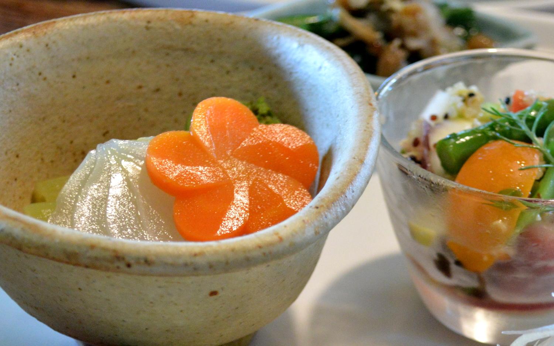 那須薬膳料理の白牡丹の一品
