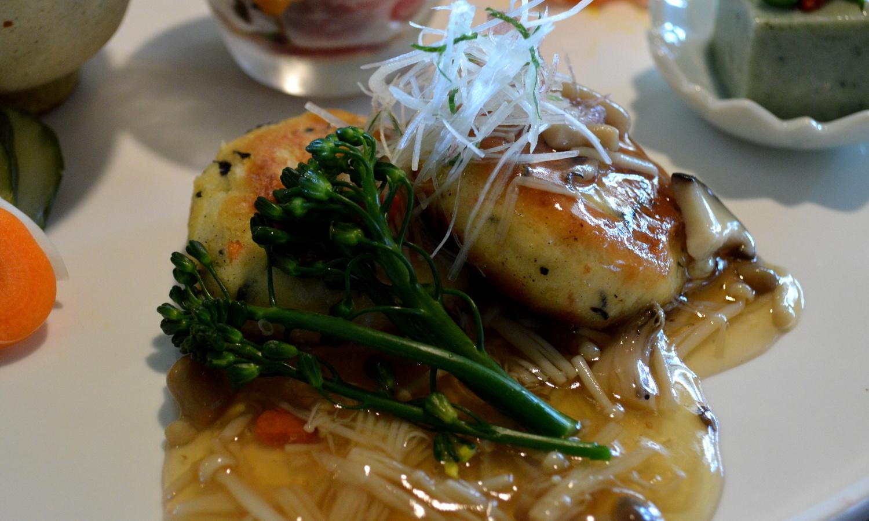 那須薬膳料理白牡丹の豆腐ハンバーグ