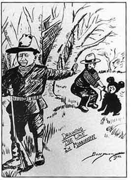 テディベア誕生のきっかけとなったワシントンポストの漫画