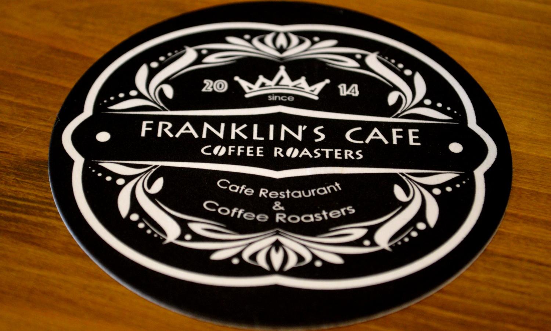 那須フランクリンズカフェのコースター