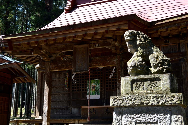 那珂川町の三輪神社の本殿