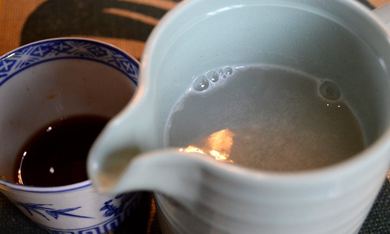 那須高原のハワイアンラナイカフェのそば粉を溶かした蕎麦湯
