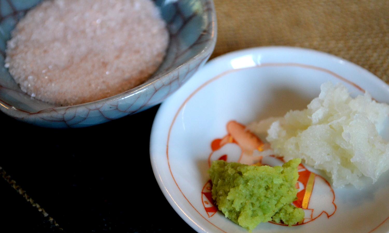那須高原ハワイアンラナイカフェの紅塩と鼠大根と本わさび