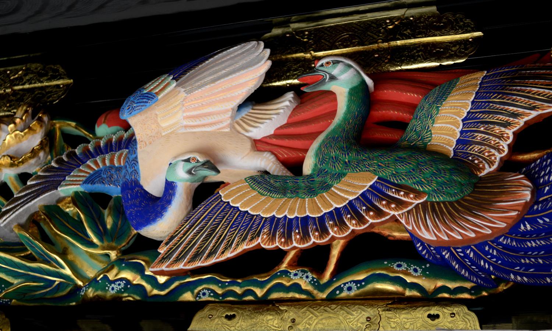日光東照宮陽明門の鳥獣の装飾