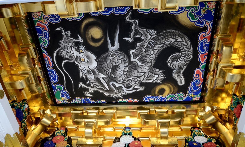 日光東照宮陽明門の加納探幽の降龍