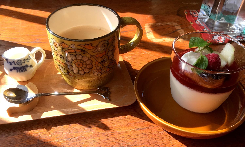 那須高原ノノワカフェのデザート「ブラマンジェ」