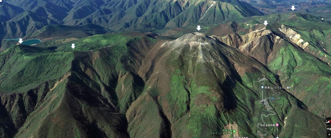 那須五峰のgooglemap
