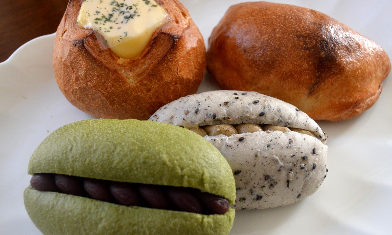 お米のパン屋さんで購入した4種類の米粉のパン