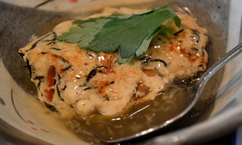 大田原家庭料理なづなの豆腐とひじきのあんかけ料理