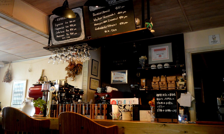 フランクリンズカフェのコーヒーコーナー