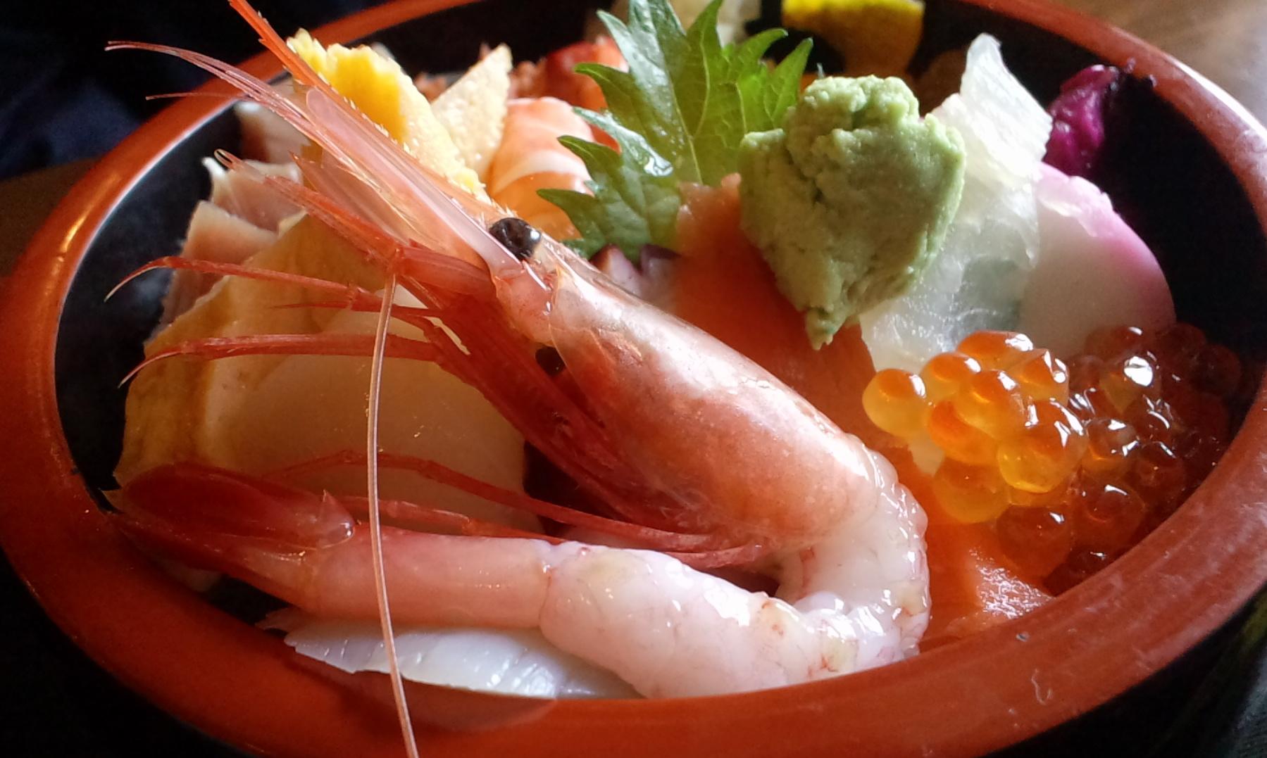 大田原市・錦鮨の海の三福丼