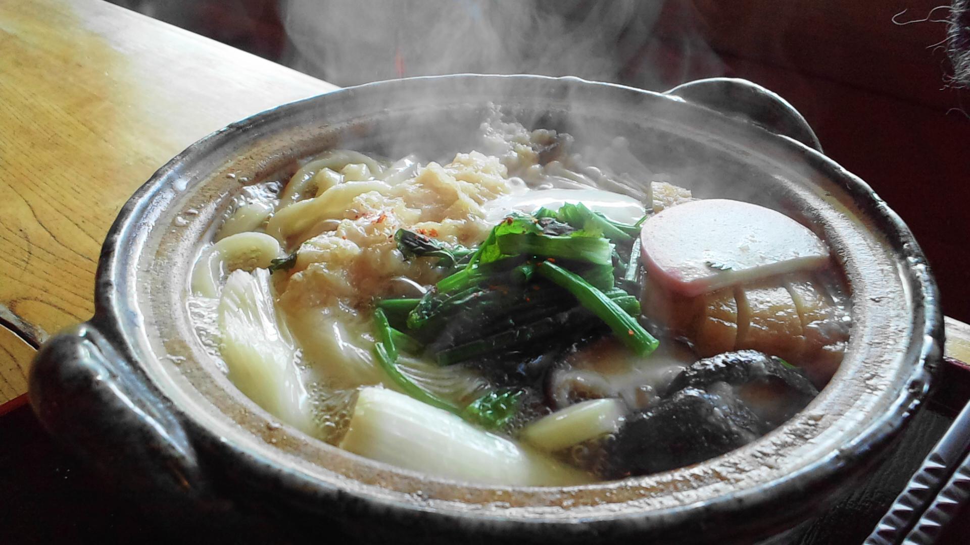 那須冨陽の鍋焼きうどん
