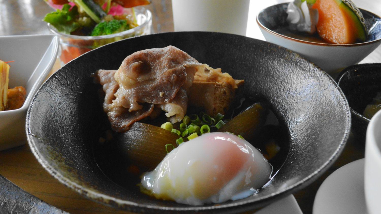 那須町瑞穂蔵の那須和牛を使ったすき煮風