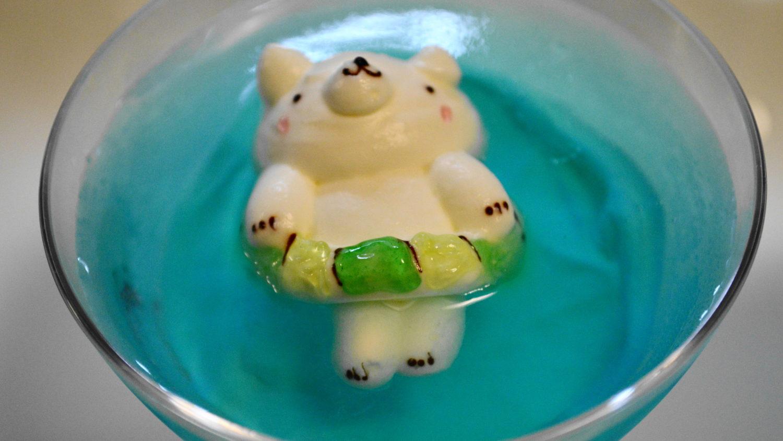 アンデュルジャンの緑の浮き輪の寝クマ