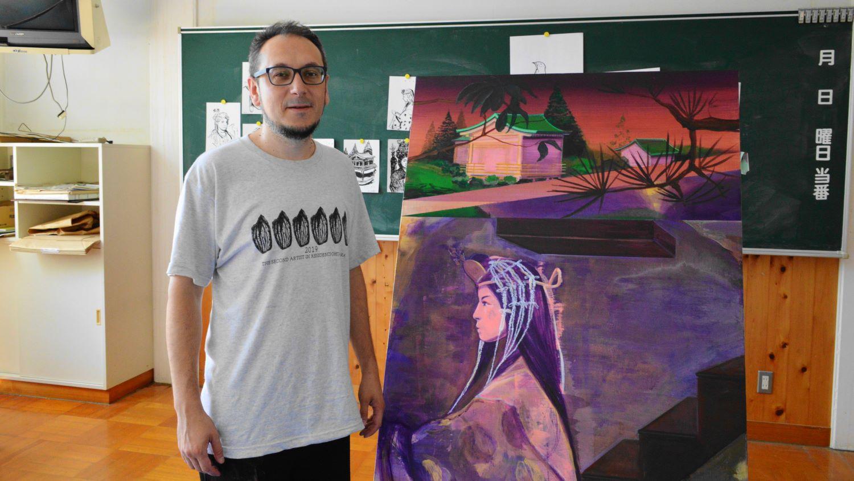 大田原市の芸術文化研究所アーティストレジデンスのフィリップロドリゲス