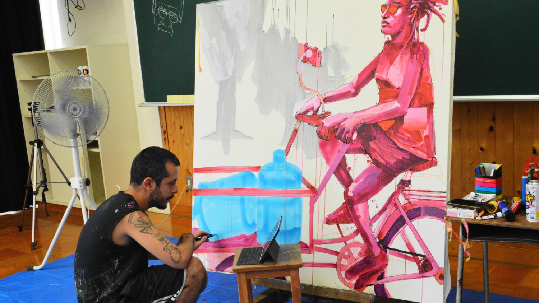 大田原市の芸術文化研究所アーティストレジデンスのルイスカルロス