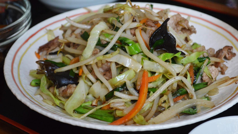 麺亭こばの肉野菜炒め
