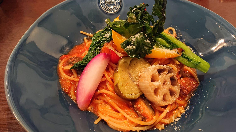 菜園レストラン「カシェット」のパスタ
