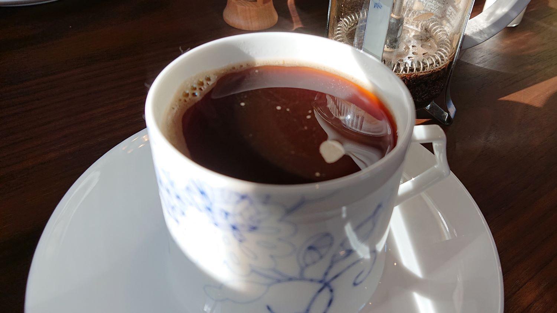 那須クレシオンカフェの煎れ立てコーヒー
