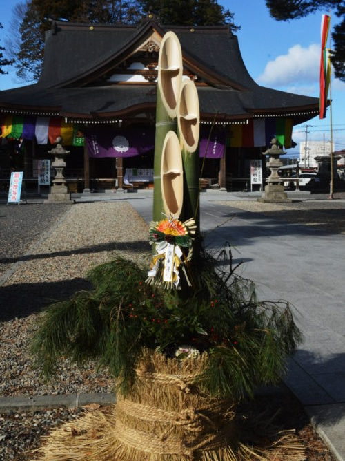 成田山の門松飾り