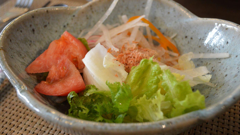 那須塩原の大和屋かふぇの前菜サラダ