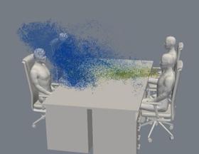 飛沫スパコン解析